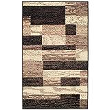 SUPERIOR Rockwood Indoor Area Rug, 4' x 6', Chocolate