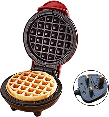 Mini Waffle Iron Machine Electric Cake Maker for Pancakes Cookies Non Stick Coating Deep Cooking Plates Star Eleven Portable Waffle Maker