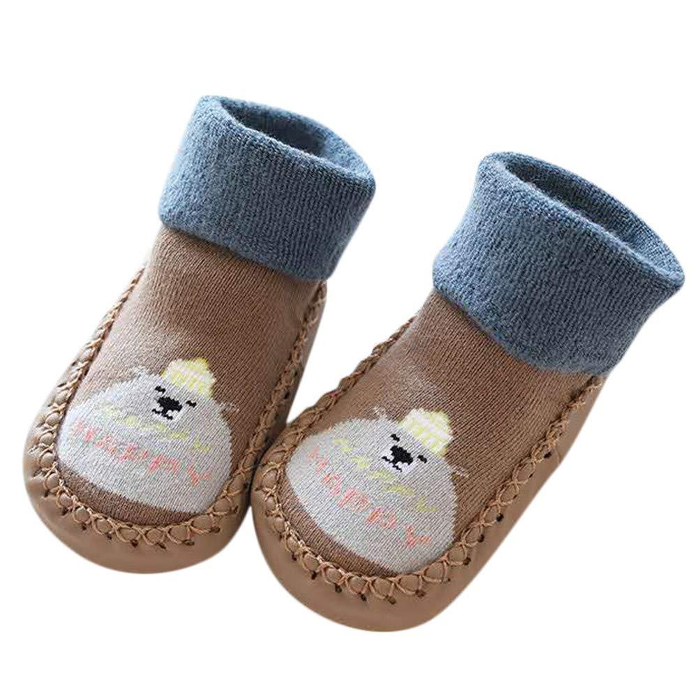 f8ba1e3cfdf97 Inkach Toddler Baby Anti-Slip Slipper Floor Socks Soft Bottom Winter ...