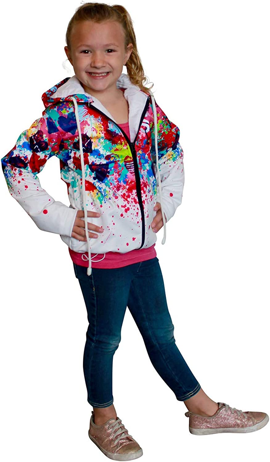 Swagger Girls Jacket Hooded Warm Jacket with Full Zipper for 8 and 9 Years Old Girls