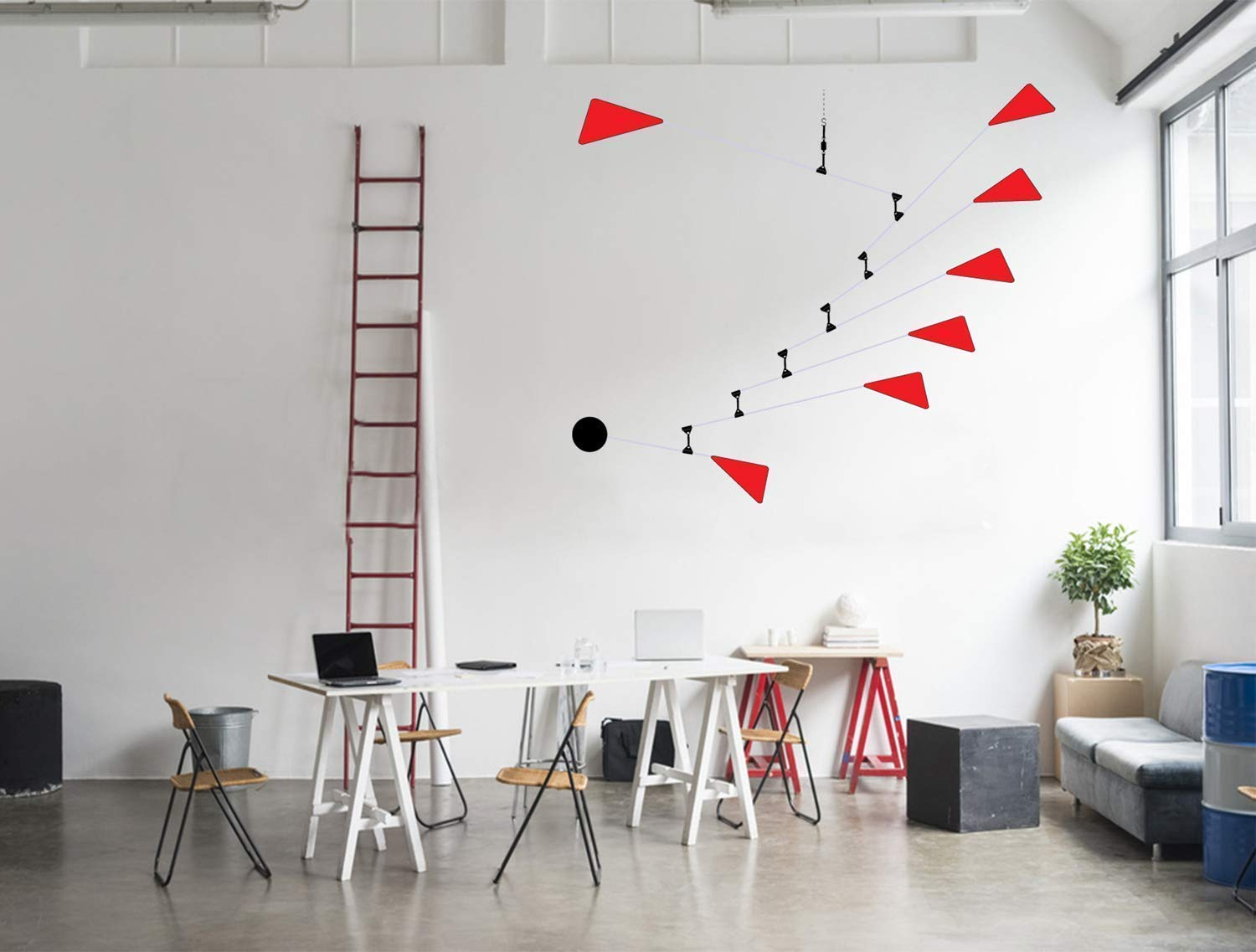 Hanging Art Mobile Triangles