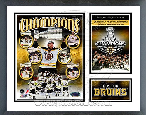 Boston Bruins 2011 NHL Stanley Cup Champions Milestones & Memories Framed Photo