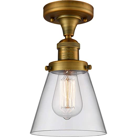 Amazon.com: Semi Flush - Lámpara de techo con acabado en ...