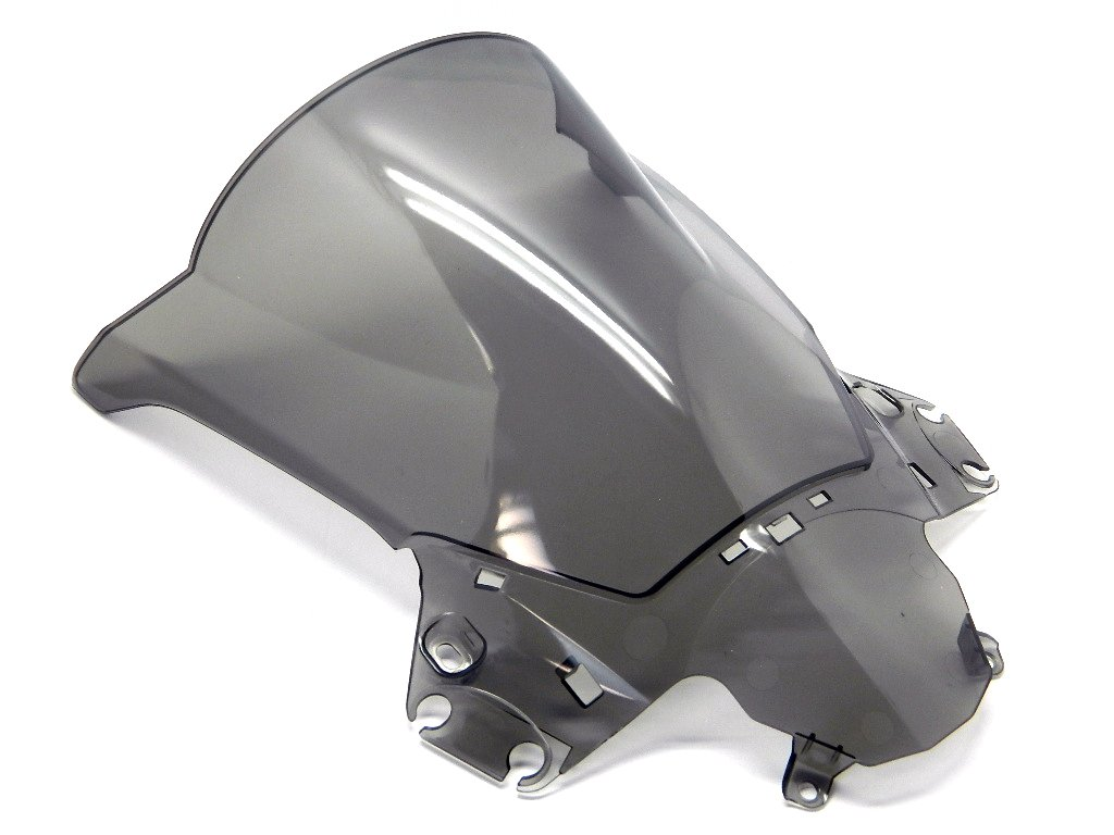 Protek ABS Plastic Injection Black Smoke Double Bubble Transparent Windscreen Windshield Front Visor for 2007 2008 2009 2010 2011 2012 Honda CBR600RR