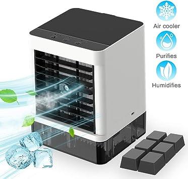 Miniventilador de aire portátil, aire acondicionado portátil, 3 en ...