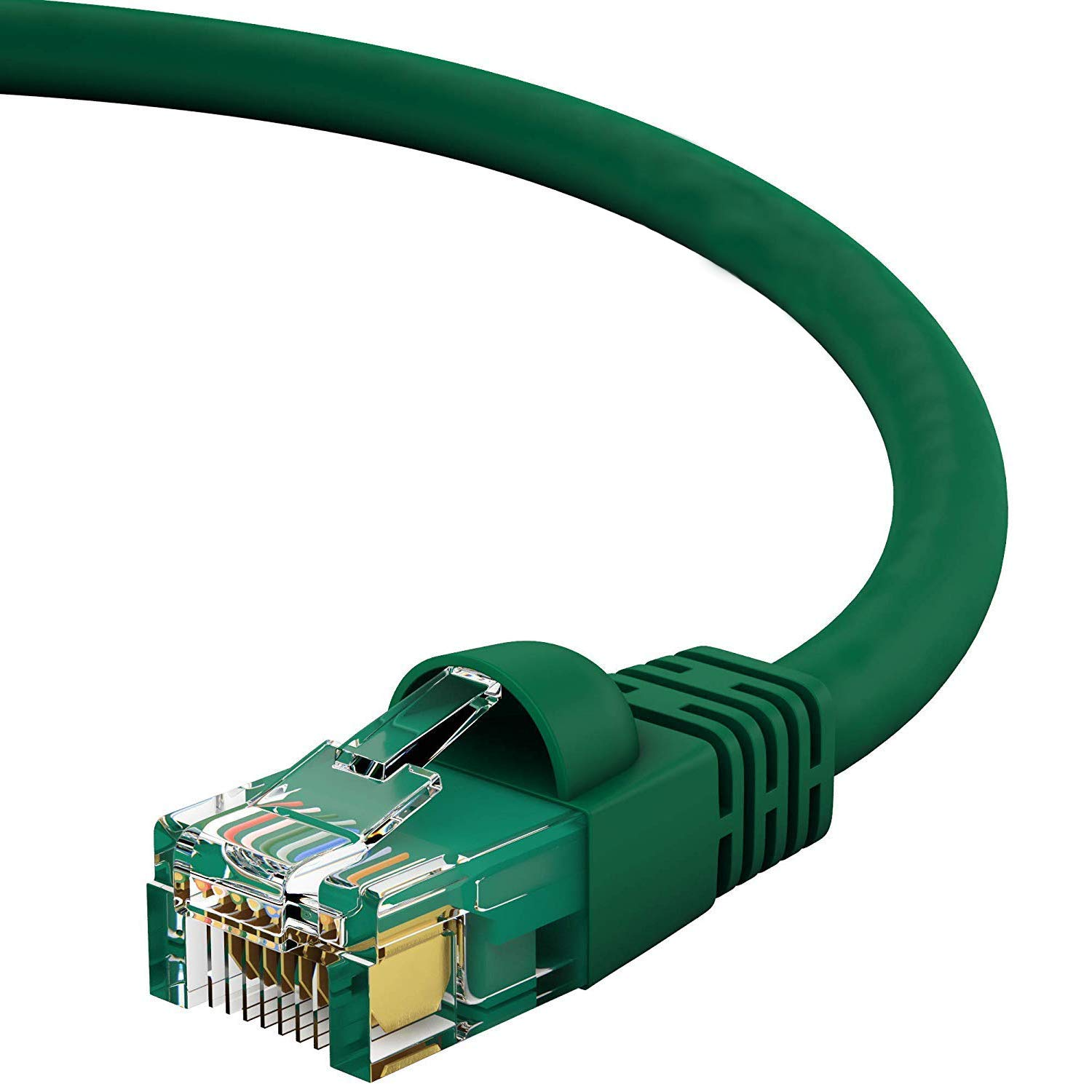 100-Pack - 4 Feet Red 1Gigabit//Sec High Speed LAN Internet//Patch Cable GOWOS Cat5e Ethernet Cable 350MHz 24AWG Network Cable with Gold Plated RJ45 Non-Booted Connector