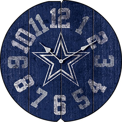 Imperial Officially Licensed NFL Merchandise: Vintage Round Clock, Dallas Cowboys
