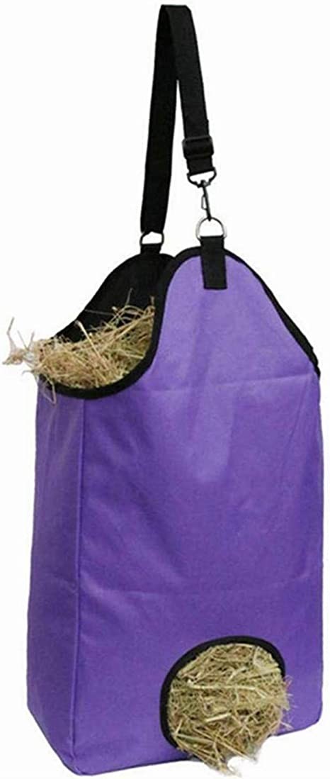 Large Capacity Horse Hay Bag Slow Feed Feeder Feeding Tote Bags  for Horses Goat