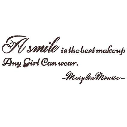 Amazoncom J Boutique Stencils Quote Stencils A Smile Is The Best