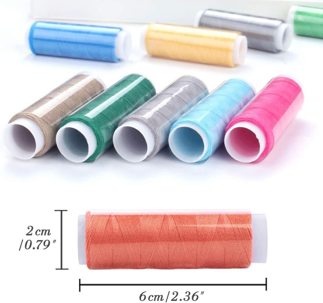 Luxbon 39 Spulen Polyester N/ähgarn 200 Yard Sewing Thread N/ähset regenbogenfarben farblich sortiert Box-Set ideal f/ür Quilts N/ähen//Hand-N/äharbeiten