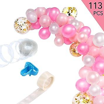 Amazon.com: Juego de 113 guirnaldas de globos, guirnalda de ...
