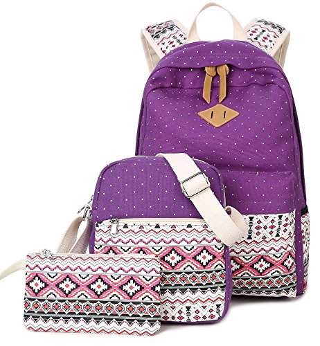 Goldwheat Canvas School Backpack Casual product image