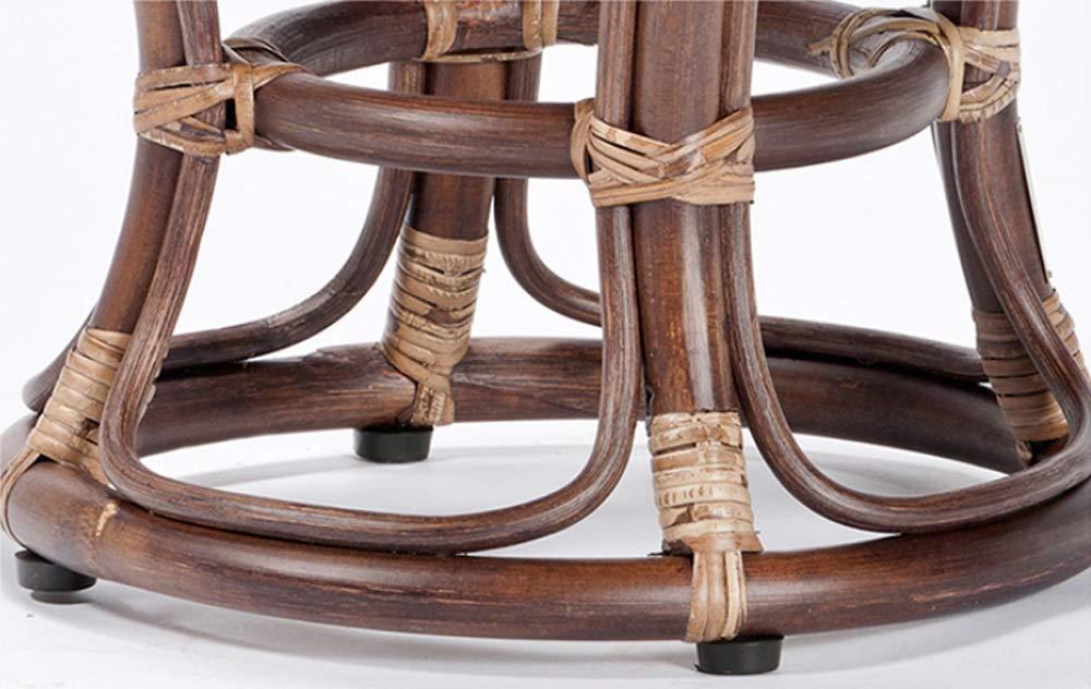 AO-stools Rattan Short Drum Stool Home Small Stool Dressing Stool Ottoman Laundry Stool 42x36cm by AO (Image #3)