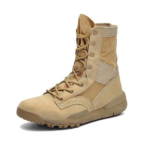 Combate De Los Hombres Botines Tácticos Invierno Cálido Gamuza con Cordones Trekking Al Aire Libre Senderismo Martin Boots: Amazon.es: Zapatos y ...