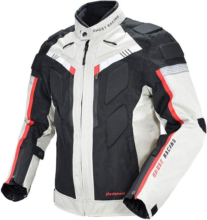 FHKL Tuta da Ciclismo Moto Uomo Quattro Stagioni Tuta Impermeabile Abbigliamento Riflettente Traspirante Anticaduta