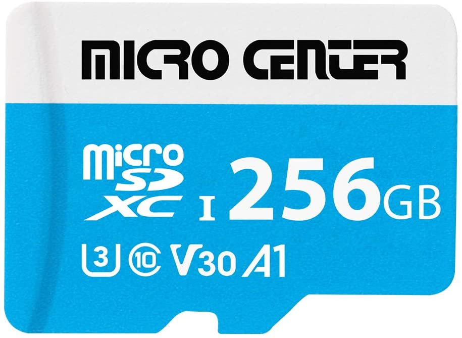 Micro Center Premium 256GB microSDXC Card UHS-I Flash Memory Card C10 U3 V30 4K UHD Video A1 Micro SD Card with Adapter (256GB)