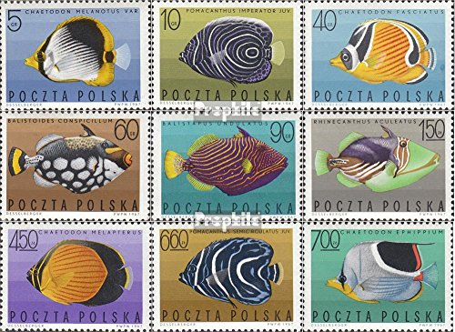 - Poland 1748-1756 (Complete.Issue.) 1967 Exotic Fish (Stamps for Collectors) Water Animals