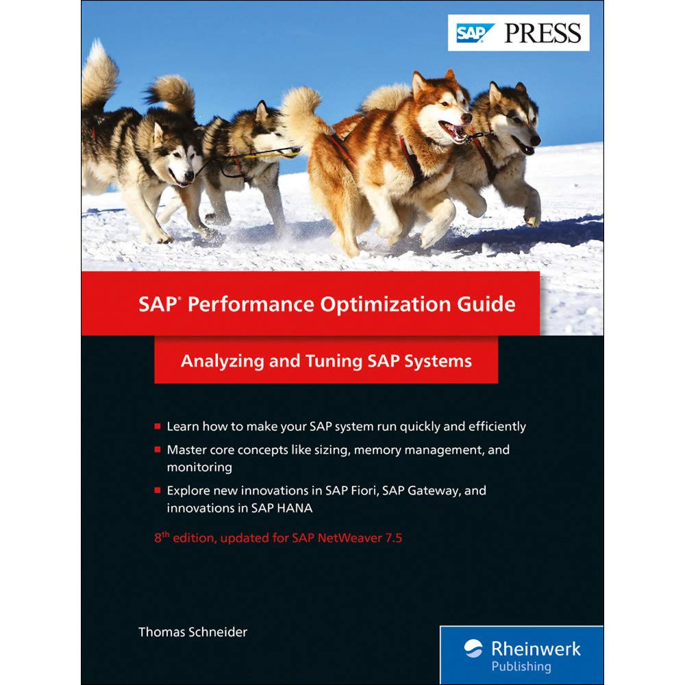 SAP Performance Optimization Guide  Analyzing And Tuning SAP Systems  SAP PRESS  Englisch