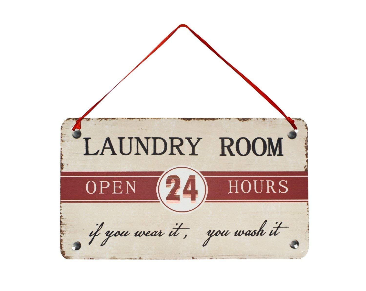 Rainbow Handcrafts Rustic Laundry Room Metal Sign Laundy Room Wall Decor Vintage Hanging Laundy Room Sign for Home Decoration 8x5.5 inch