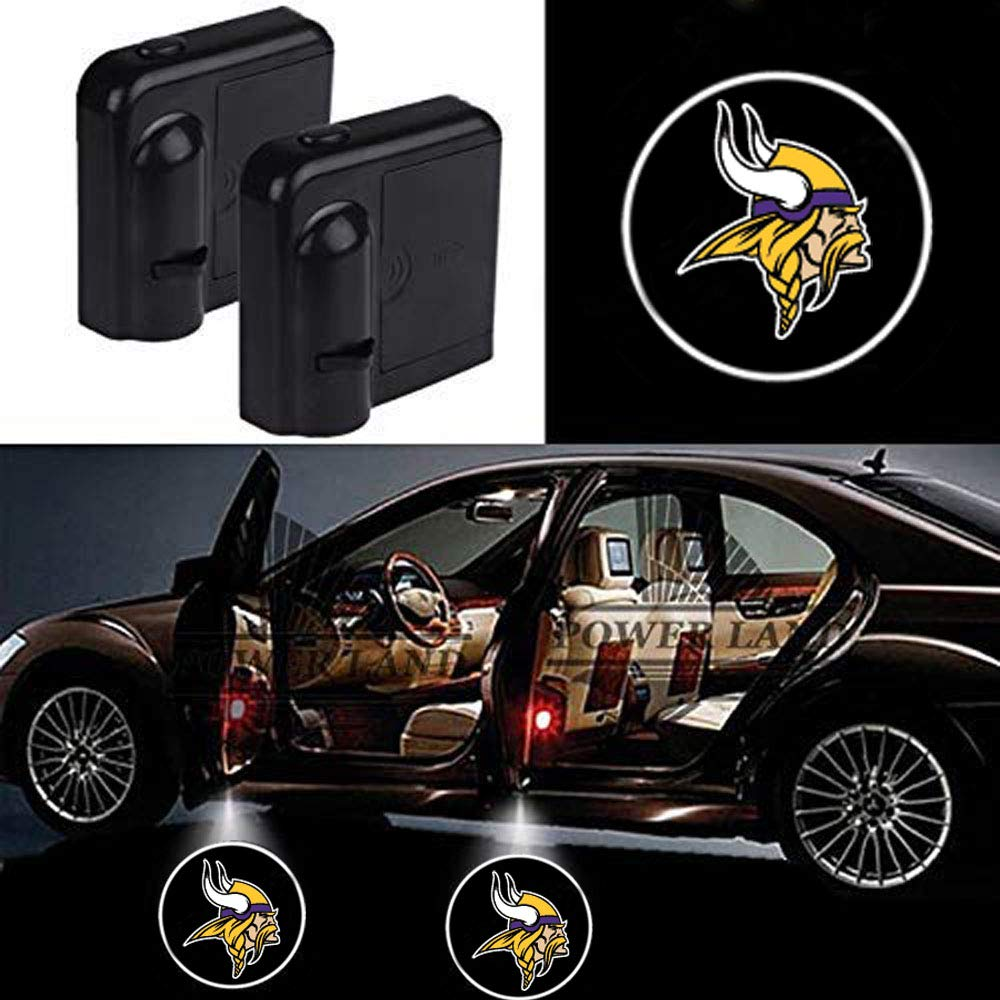 New England Patriots For New England Patriots Car Door Led Welcome Laser Projector Car Door Courtesy Light Suitable Fit for all brands of cars