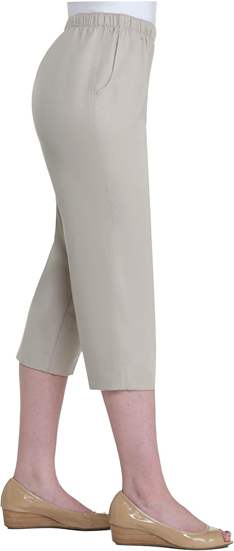 Alia Nygard Womens Plus Size Pull-On Capri
