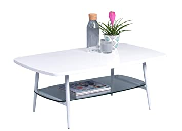 HomeTrends4You Girona Mesa de saln, MDM, Blanco, 100x38x60 ...