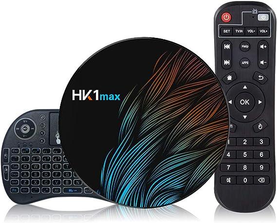 Android 9.0 TV Box 【2G+16G】con Mini Teclado inalámbirco RK3318 Quad-Core 64bit Android TV Box, Wi-Fi-Dual 5G/2.4G, BT 4.0, 4K*2K UHD H.265, USB 3.0 ...