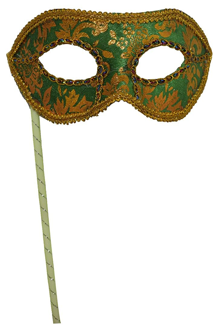 Mans Christmas Halloween New Year Party Black White Plastic Half-face Masquerade Mask on Stick