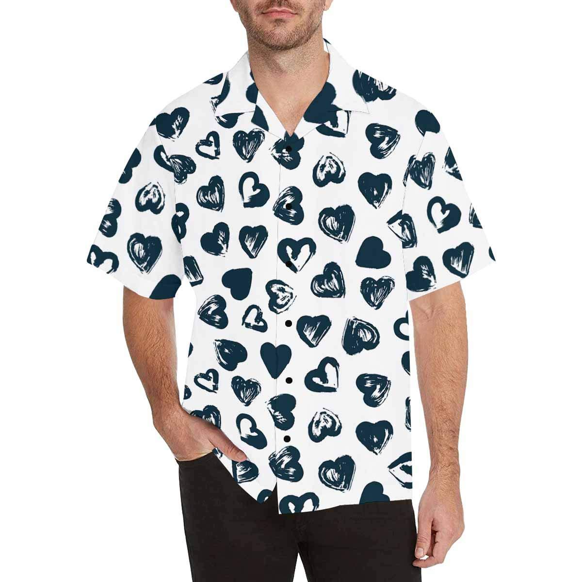 InterestPrint Mens Shirt Green Background with Spirals Short Sleeve Casual Button Up Mens Shirts