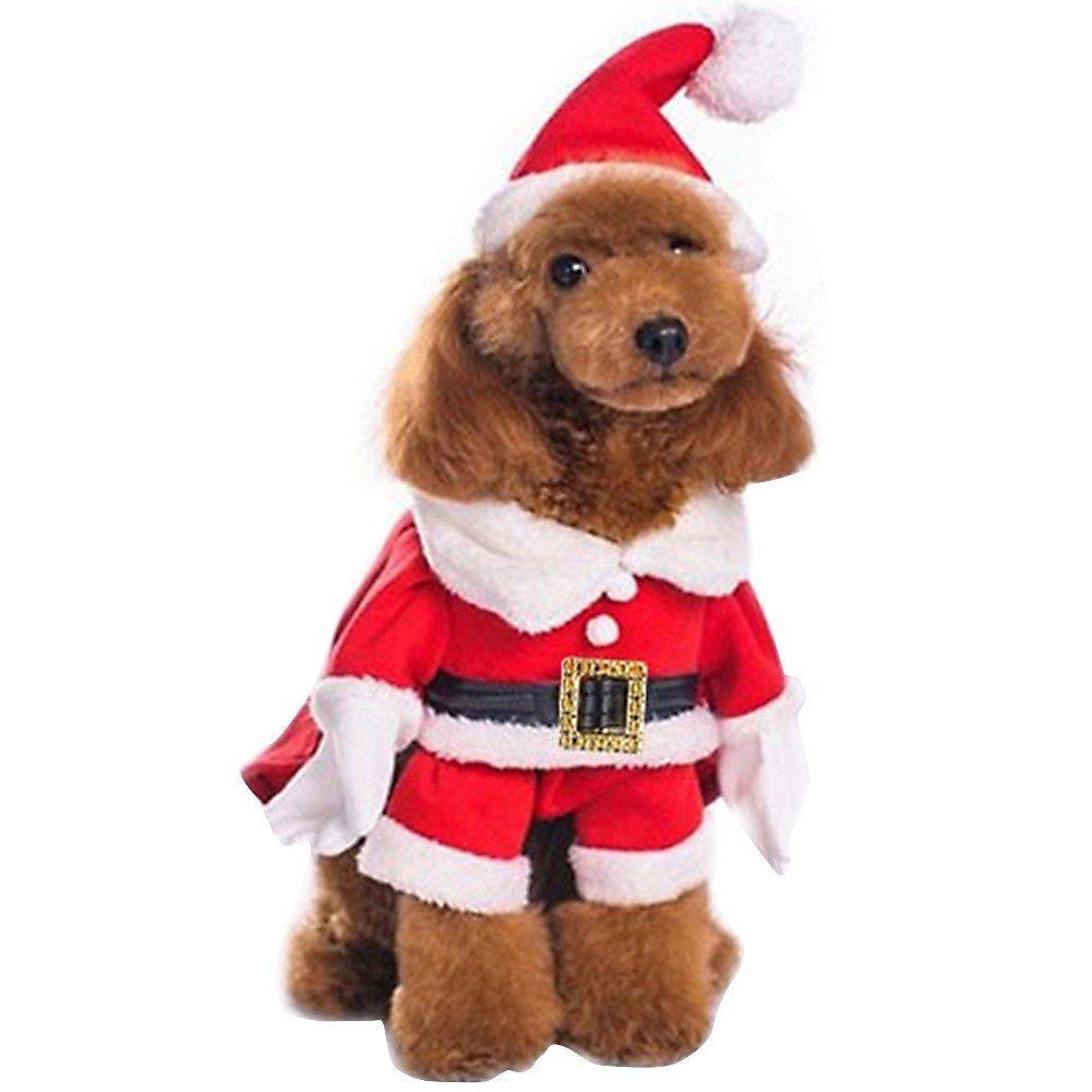 Freebily Disfraz de Navidad para Perro Gato Ropa Traje de Fiesta para Cachorro Mascota Gracioso Invierno Cosplay
