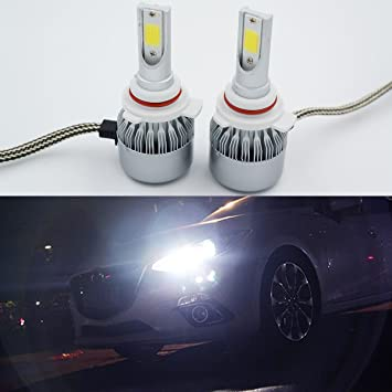 2 x 9012 HIR2 LED Headlight 36 W 3800LM bombilla 6000 K luz blanca antiniebla Headligt
