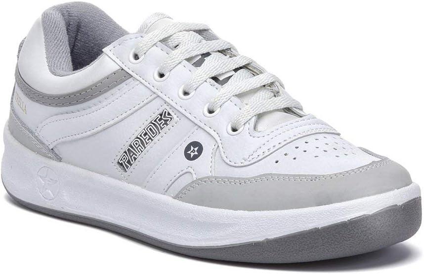 Paredes Blanco Deportivo Estrella trabajo, comodidad, plantilla momery foam, seguridad, cordones, 42
