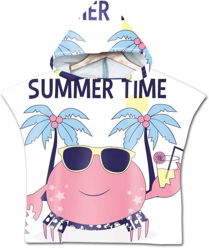 3D Cartoon Unicorn Kids Baby Girl Boy Changing Clothing Hooded Robe Beach Bath Towel for Surfing Swimming Wetsuit Swimwear 60x60cm,Black galaxy Treer Children Beach Towel Robe Bathrobe Poncho