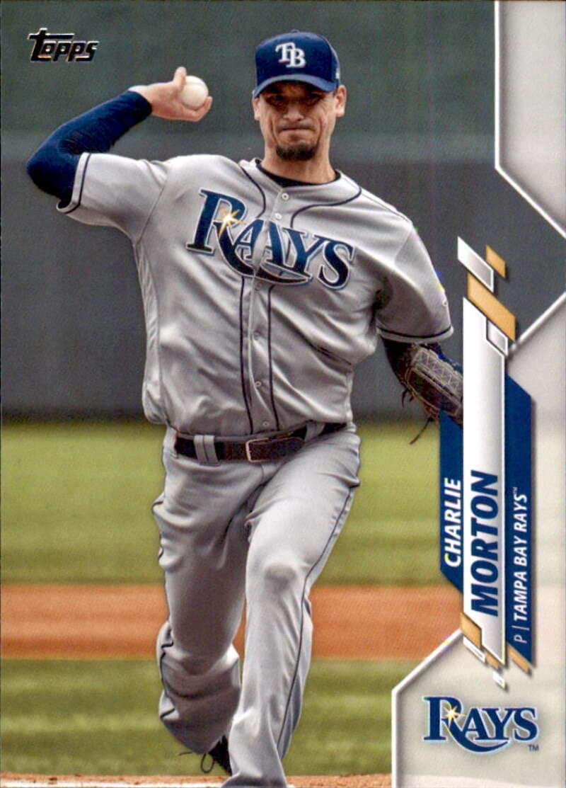 amazon com 2020 topps series 2 baseball 406 charlie morton tampa bay rays official mlb trading card collectibles fine art 2020 topps series 2 baseball 406
