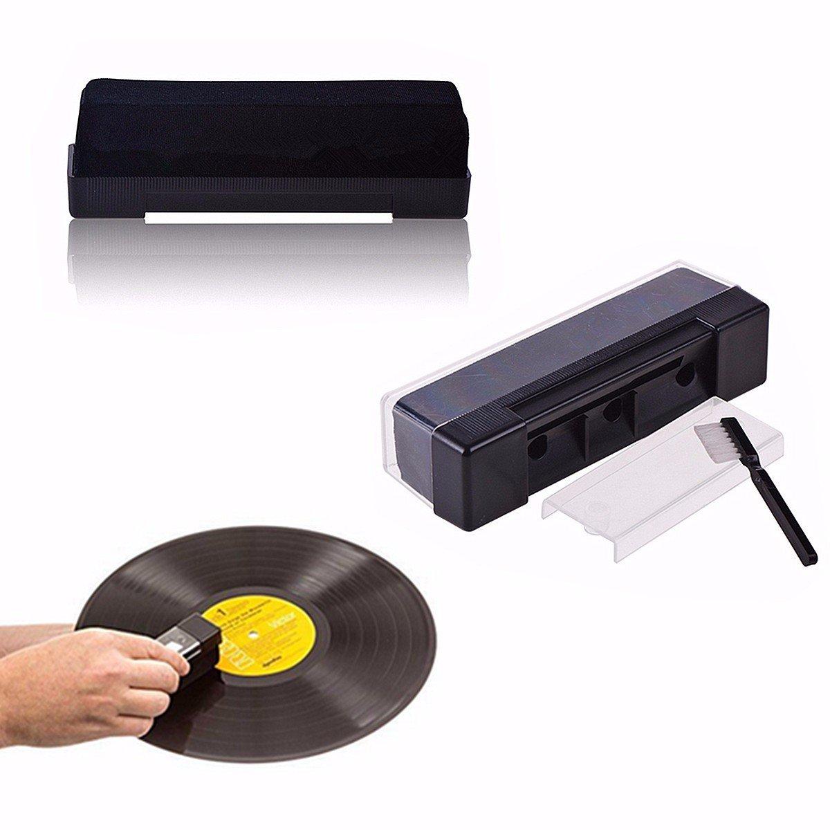BestクリーンアップOutfit – レコードターンテーブルPhonographクリーニングキットブラシ – Recording Discクレンジング登録Platter – 1pcs B07DP2ZLGV