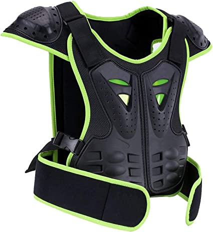 Body Chest Spine Protector Armor Vest Protective Gear Motorcycle Kids Dirt Bike