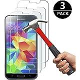 [3 Pack] Samsung Galaxy S5 Protection écran Film Protection en Verre Trempé(Ne pas S5 Mini) Cokirra-SANS BULLES D'AIR-HD Ultra transparent pour Samsung Galaxy S5