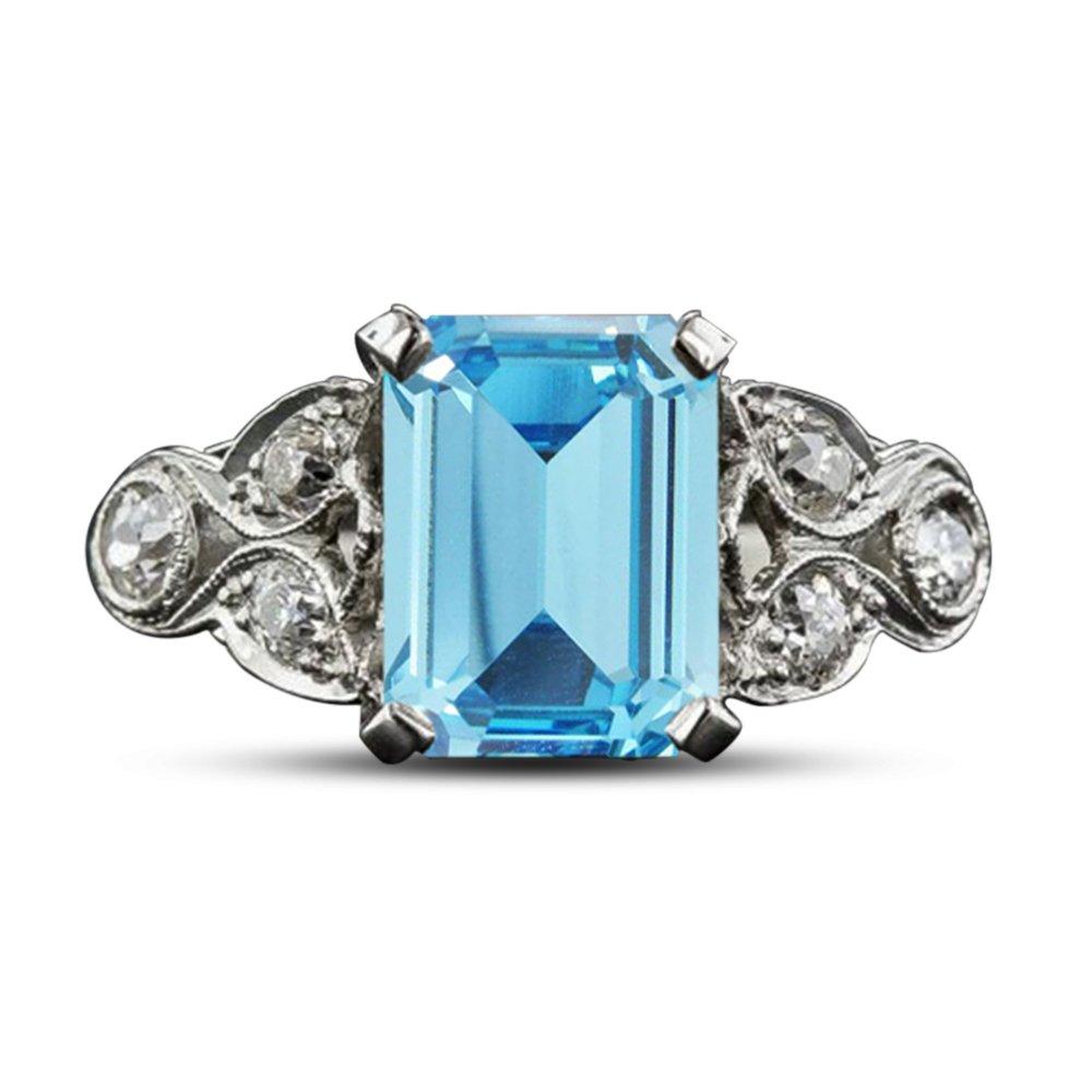 Vorra Fashion Smaragd Smaragd Smaragd mit Cut-sim-diamond Jahrestag Hochzeit Ring für Damen Geschenk ad5979