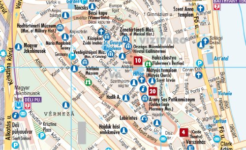 Laminated Budapest City Streets Map by Borch English Edition in – Uae Map Road