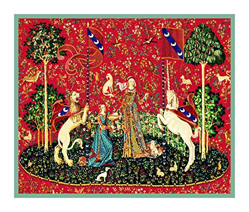 Orenco Originals Taste Panel from The Lady The Unicorn Tapestries Counted Cross Stitch Pattern