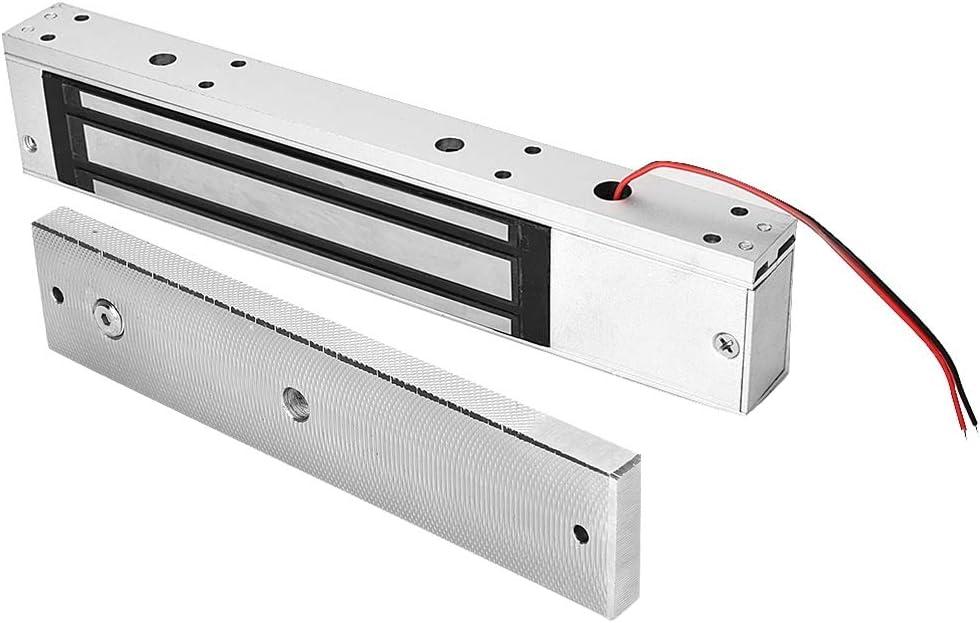 Metallt/üren Integrierter Elektromagnetverschluss Geeignet f/ür Holzt/üren Glast/üren DC 12V Elektromagnetische Verriegelung 280kg Haltekraft Einzelt/ür Elektromagnetisch mit LED Licht