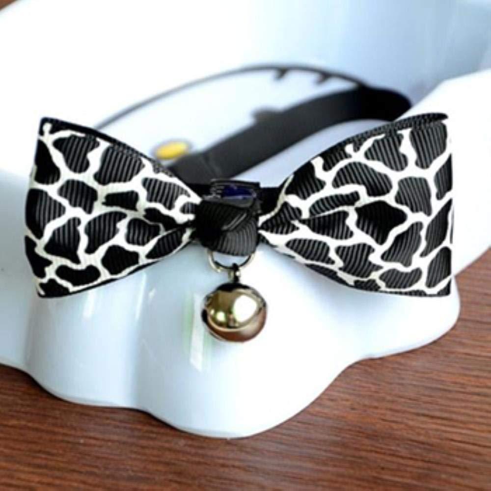 ZIMO 1 Unids Encantadores Gatos de Pajarita Corbata de Perro Perros Bowtie Collar Suministros para Mascotas Campana Corbata