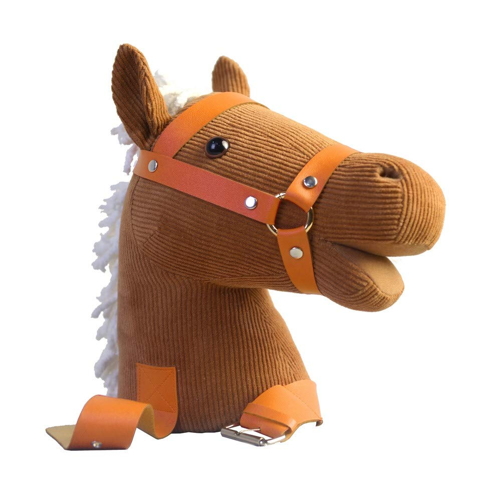 Amazon.com   Gbell Soft Stuffed Happy Horse Toys- Plush Rocking Horse Head  Toy Emotional Companion Parent-Child Toys for Girls Boys Toddler Kids 74e9c1327a5f