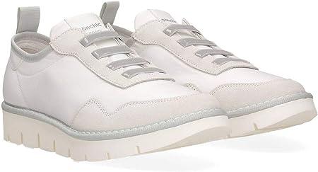 PANCHIC P05W14006NS4A00001-WHITE - Slip para Mujer P05 Blanco de Nailon y Ante
