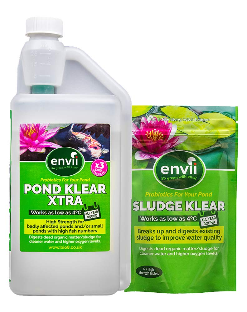 Envii Sludge and Pond Klear Xtra - Pond Treatment Pack - targets unwanted organics during winter. Bio8
