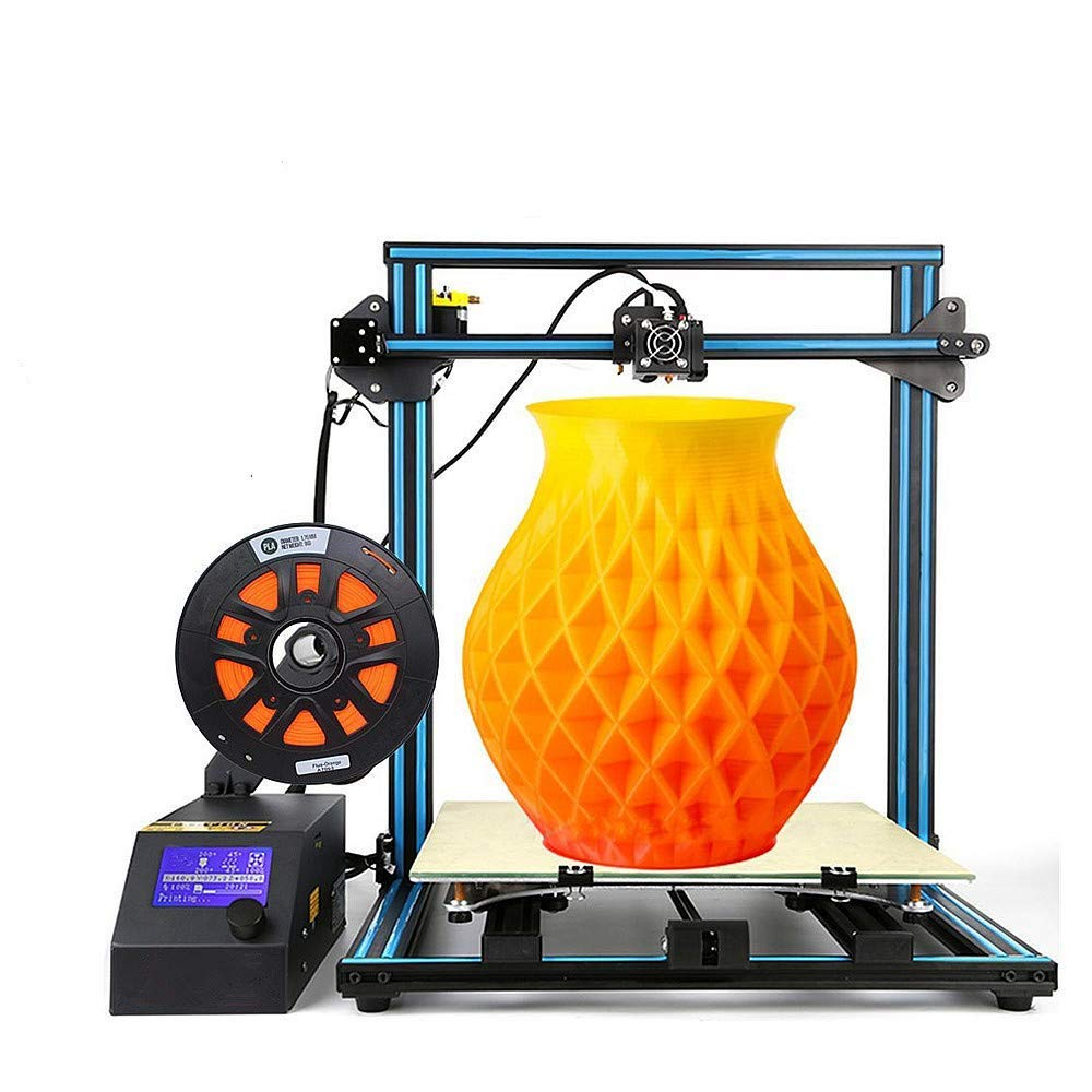 CR-10 S5 Creality 3D Printing Printer/Desktop DIY Kits with Upgrade V2.1 Version Board/Filament Sensor/Dual Z Axis/Resume Off (500x500x500mm)