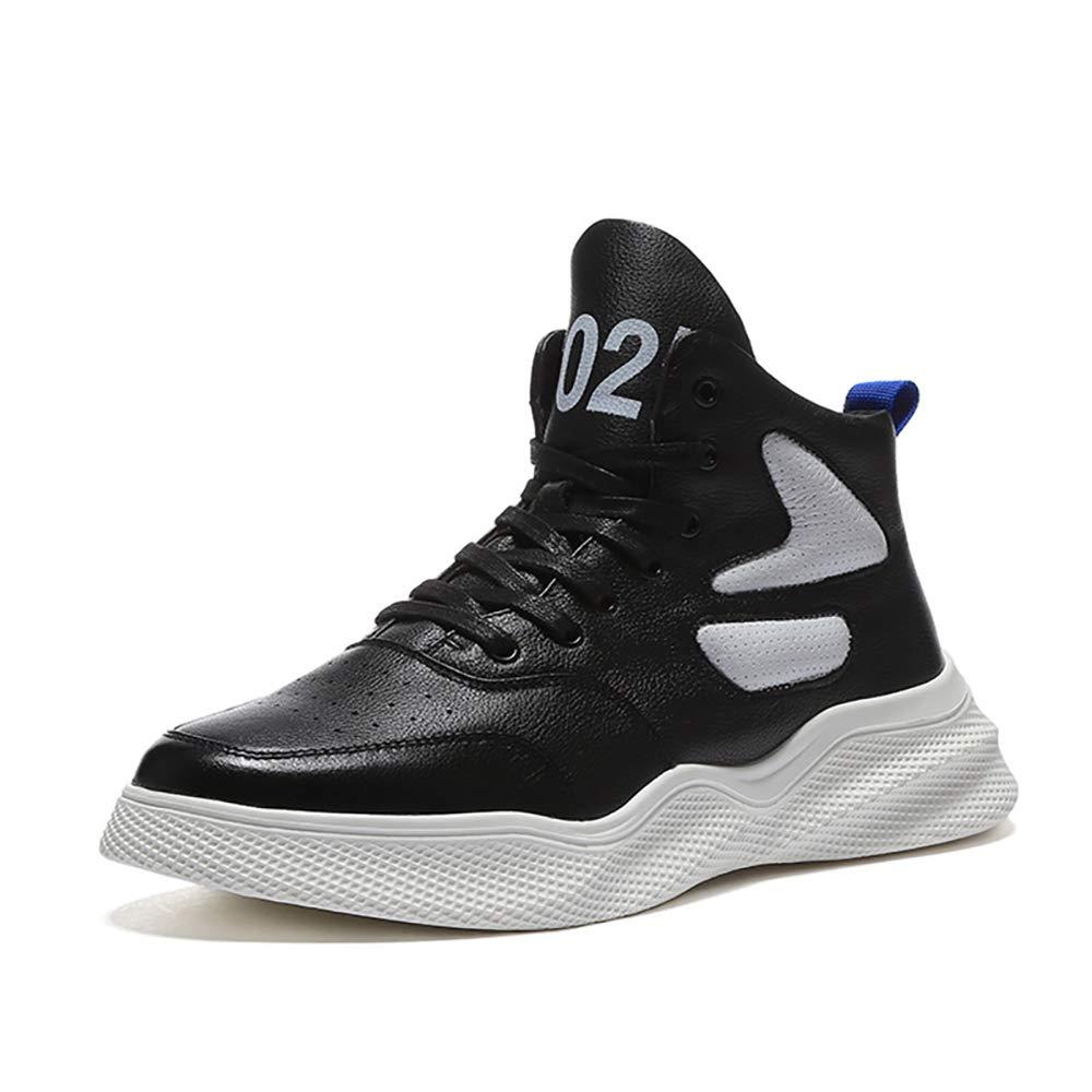 ETYGYH Herrenschuhe, Herbst-und Winterschock Absorption Skid High Basketball Basketball Basketball Schuhe Breathable Wear Training Laufschuhe,schwarz,43 8ed8c1