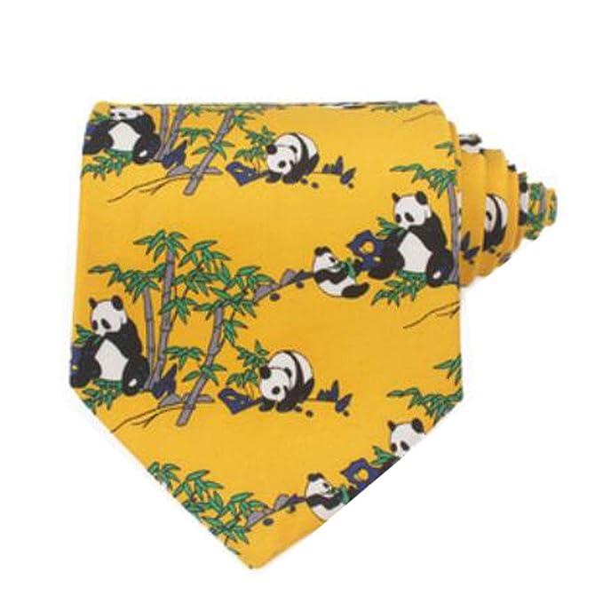 Black Temptation Patrón de Panda de Estilo Chino Corbatas Corbata ...