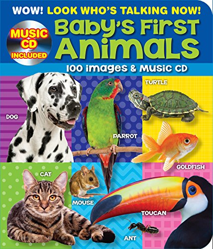 100 Plus Baby's First Animals Point and Learn Kids Board Book with Bonus Music CD