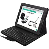 Apple iPad 2/3/4 Keyboard Case,Eoso Folding Leather Folio Cover with Removable Bluetooth Keyboard for iPad 2/3/4 Tablet(Black)